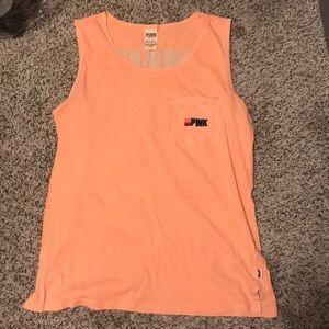 neon orange muscle tee